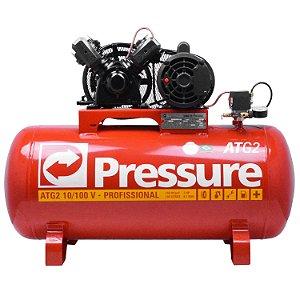 Compressor de Ar 10 Pés 100 Litros ATG2 Trifásico - Pressure