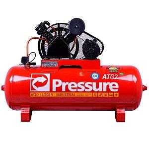 Compressor de Ar 15 Pés 200 Litros ATG2 Monofásico - Pressure