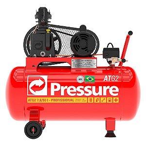 Compressor de Ar Móvel 7,6 Pés 50 Litros ATG2 Monofásico - Pressure