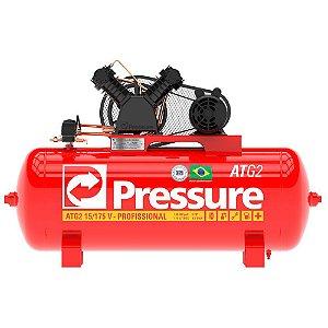 Compressor de Ar 15 Pés 175 Litros ATG2 Monofásico - Pressure