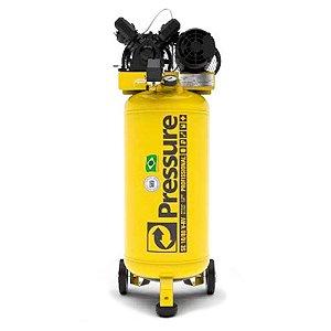 Compressor de Ar Vertical 10 Pés 80 Litros Trifásico - Pressure