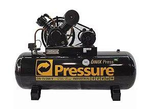 Compressor Onix Press 15 Pés 200 Litros Monofásico - Pressure