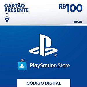 Cartão Playstation Network R$ 100 Reais - Brasil - Código Digital