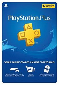 Cartão Playstation Network Plus 12 Meses - Brasil - Código Digital