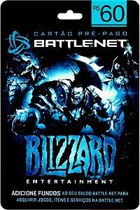 Cartão Battle.Net R$ 60 reais - Brasileiro - Código Digital