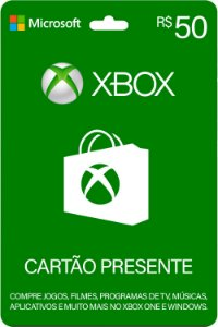Cartão Presente Xbox R$ 50 Reais Brasil Gift Card - Código Digital