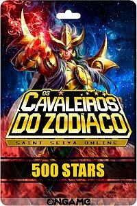 Cartão Cavaleiros do Zodíaco - Saint Seiya 500 star - Ongame - Código Digital