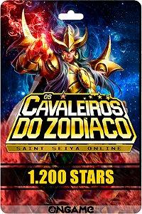 Cartão Cavaleiros do Zodíaco - Saint Seiya 1200 star - Ongame - Código Digital