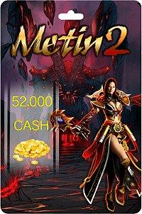 Cartão Metin2 52.000 Cash - Código Digital