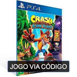 Crash Bandicoot N. Sane Trilogy-PS4- Digital Código 12 Dígitos Brasileiro