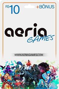 Cartão Aeria Games + Bônus Points Presente Envio Imediato - Código Digital