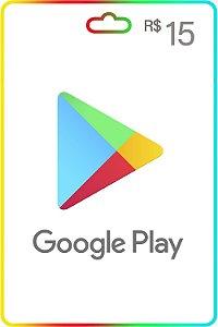 Cartão Google Play Brasil R$15 Reais Vale Presente - Código Digital