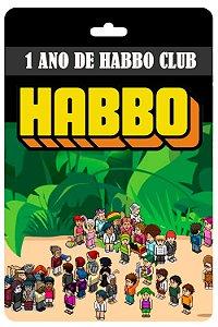 Cartão Habbo 1 ano Habbo Club Br Brasil