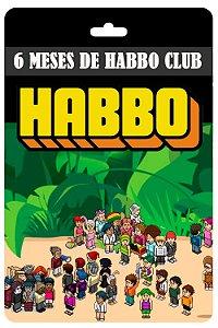 Cartão Habbo  6 meses Habbo Club BR Brasil
