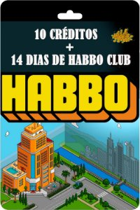 Cartão Habbo 10 Créditos + 14 Dias de Habbo Club