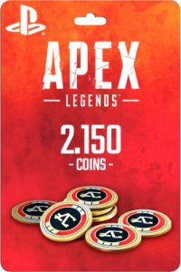 Cartão 2.150 Coins Apex Legends PS4 - Código Digital
