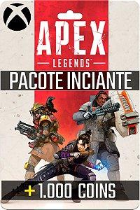 Cartão Pack Iniciante 1.000 Coins Apex Legends Xbox One - Código Digital