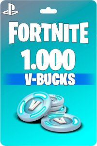 Cartão Fortnite 1.000 V-Bucks PSN PS4 - Código Digital