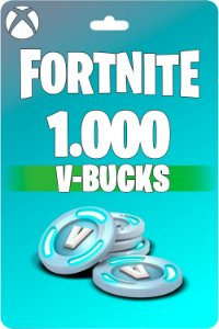 Cartão Fortnite 1.000 V-Bucks XBOX ONE - Código 25 Dígitos Digital