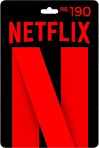 Cartão R$ 190 Reais Pré-pago Netflix - Código Digital