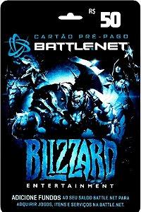 Cartão Battle.Net R$ 50 reais - Brasileiro - Código Digital