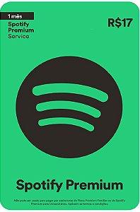 Cartão Spotify Assinatura 1 mês - Brasil - Código Digital