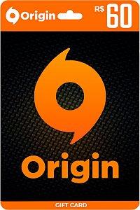 Cartão Origin R$ 60 Reais - Brasil - Código Digital