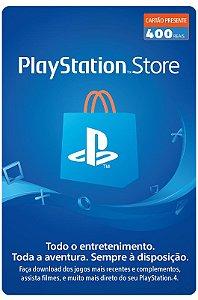 Cartão Playstation Network R$ 400 Reais - Brasil - Código Digital