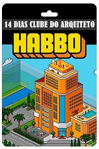 Cartão Habbo  14 Dias Clube do Arquiteto