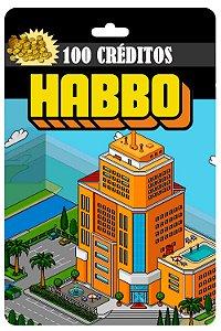 Cartão Habbo R$ 30 Reais 100 Créditos - Código Digital