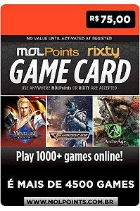 Cartão Rixty R$ 75 Reais - Brasil - Código Digital