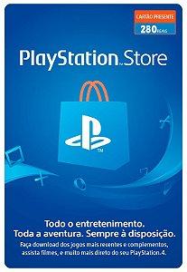 Cartão Playstation Network R$ 280 Reais - Brasil - Código Digital
