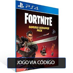 Fortnite - Pacote Samurai da Sucata PSN PS4 - Código Digital