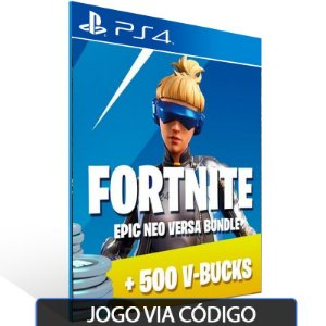 Fortnite — Neo Versa Bundle + 500 V-Bucks PSN PS4 - Código Digital
