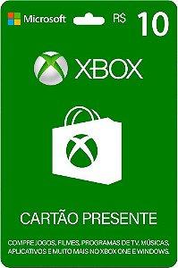 Cartão Presente Xbox R$ 10 Reais Brasil Gift Card - Código Digital