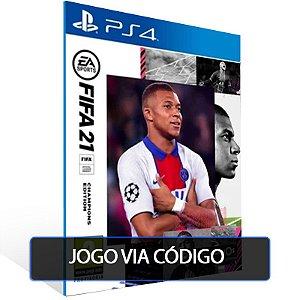 FIFA 21 Edição dos Campeões - PS4 - CÓDIGO 12  DÍGITOS BRASILEIRO