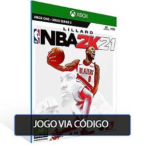 NBA 2K21 - XBOX - CÓDIGO 25  DÍGITOS BRASILEIRO