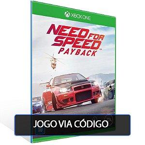 Need for Speed Payback- Código 25 dígitos - Xbox One