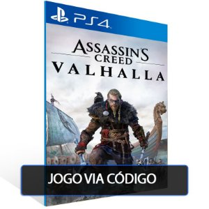 Assassin's Creed Valhalla - PS4 - Codigo de 12 digitos brasileiro
