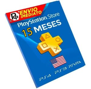 Cartão Playstation Network Plus 15 Meses - CÓDIGO AMERICANO - Código Digital