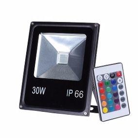REFLETOR LED RGB SMD IP66 30W BIVOLT