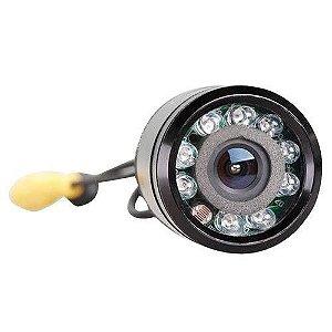 Câmera de Ré Infravermelho Led Noturna 28mm Preto