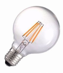 Lâmpada LED Filamento Vintage Retrô G95 8W Âmbar E27 Bivolt