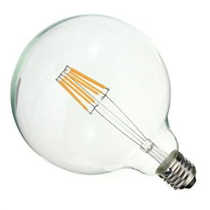 Lâmpada LED Filamento Vintage Retrô G125 8W Âmbar E27 Bivolt