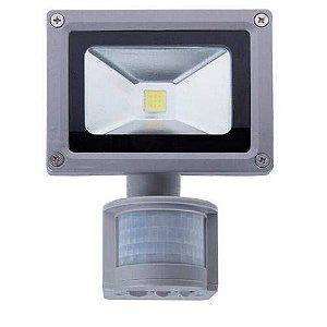 Refletor Holofote Led Sensor Presença 10w Bivolt