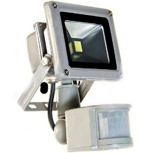 Refletor Holofote Led 10W Sensor De Presença Branco Frio