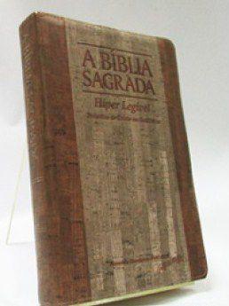 Bíblia Letra Gigante Hiper Legível Cortiça Madeira