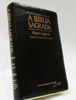 Bíblia Letra Gigante Hiper Legível Preta