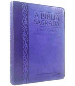Bíblia Letra Gigante Hiper Legível Uva Lilás