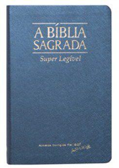 Bíblia Letra Gigante Super Legível Azul Indice
